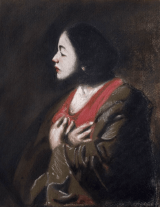 Study in pastel after an eighteenth century painting