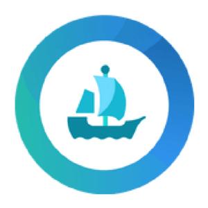 Logo of OpenSea platform